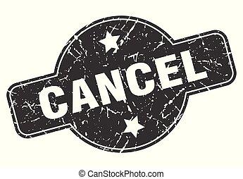 cancel round grunge isolated stamp