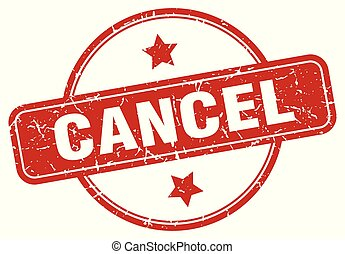 cancel sign - cancel vintage round isolated stamp