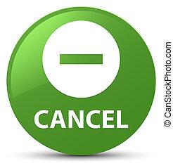 Cancel soft green round button