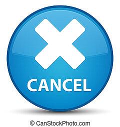 Cancel special cyan blue round button