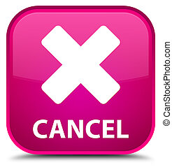 Cancel special pink square button