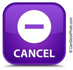 Cancel special purple square button