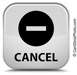 Cancel special white square button