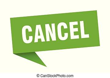 cancel speech bubble. cancel sign. cancel banner