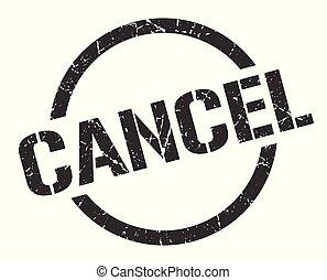 cancel stamp - cancel black round stamp