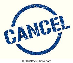 cancel stamp - cancel blue round stamp