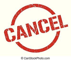 cancel stamp - cancel red round stamp