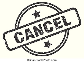 cancel stamp isolated on white