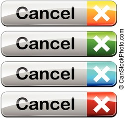cancel web buttons