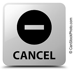 Cancel white square button