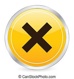 cancel yellow circle icon