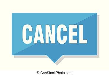 cancelamento, aprece etiqueta