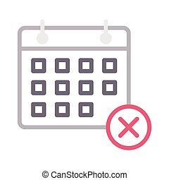 cancelamento, calendário