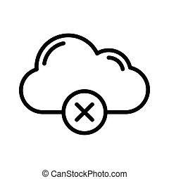 cancelamento, nuvem