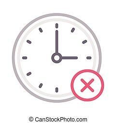 cancelamento, relógio