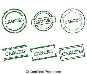 cancelamento, selos