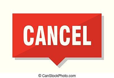 cancelamento, tag vermelho