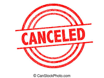 CANCELED Rubber Stamp over a white background.