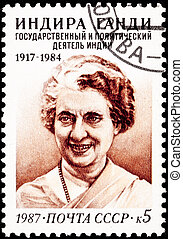 Canceled Soviet Russia Postage Indira Gandhi Prime Minister...