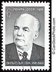 Canceled Soviet Russia Postage Stamp Wilhelm Pieck President...