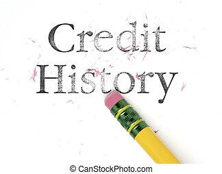 cancellare, credito, storia