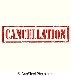 Cancellation-red stamp - Grunge rubber stamp with text...