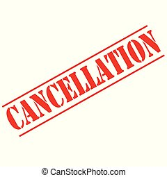Cancellation-red stamp - Red stamp with text...