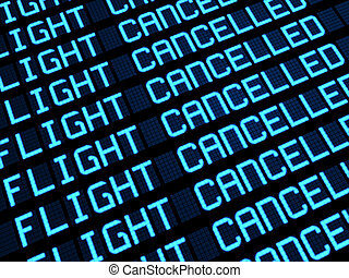 Cancelled Flights Airport Board
