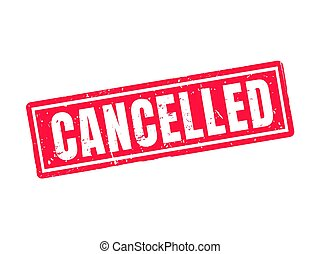 cancelled red stamp style