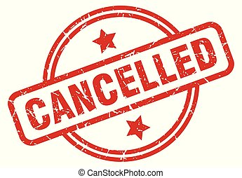 cancelled round grunge isolated stamp