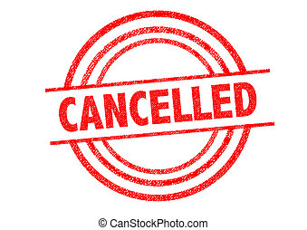 CANCELLED Rubber Stamp - CANCELLED (British spelling) Rubber...