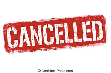 Cancelled sign or stamp