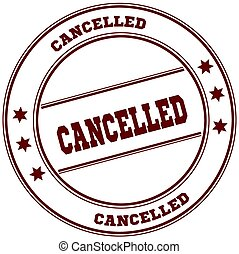 CANCELLED simple red stamp
