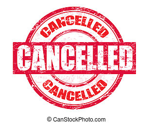 Cancelled stamp - Abstract red grunge office rubber stamp...
