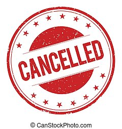 CANCELLED stamp sign
