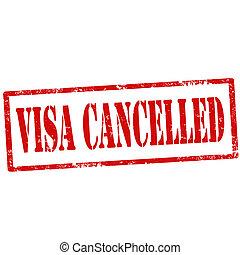 cancelled-stamp, visa
