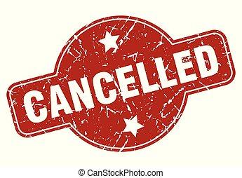 cancelled vintage stamp. cancelled sign