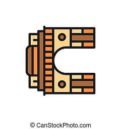 cancello, arco, nuovo, linea, appartamento, trionfale, ...