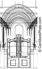 cancello, astratto, costruzioni