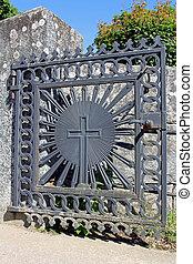 cancello, croce, chiesa