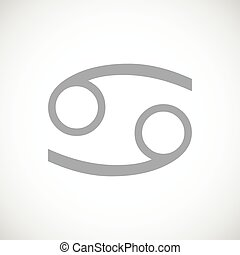 Cancer black icon