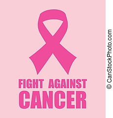 Cancer campaign design over pink background, vector ...
