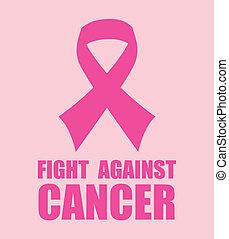 Cancer campaign design over pink background, vector ...