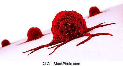 Cancer cell - 3d rendered illustration of a cancer cell