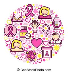 Cancer concept design vector illustration