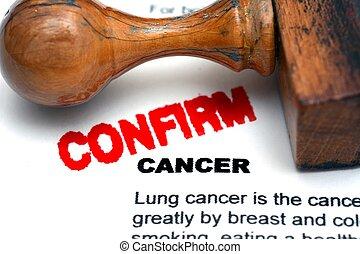 Cancer confirm