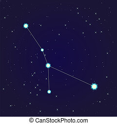 Cancer constellation - Constellation of Cancer on night...