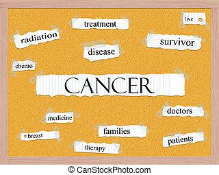 Cancer Corkboard Word Concept
