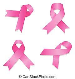cancer icon set, isometric style