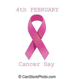 Cancer ribbon breast pink awareness vector icon isolated white symbol
